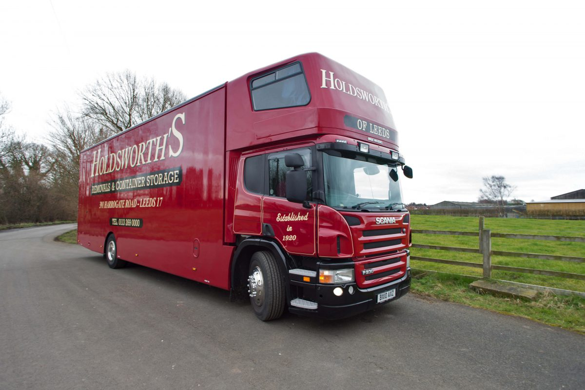 Holdsworth's Removals Van Side