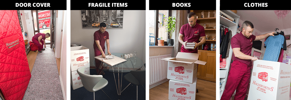 Packing items - before and after