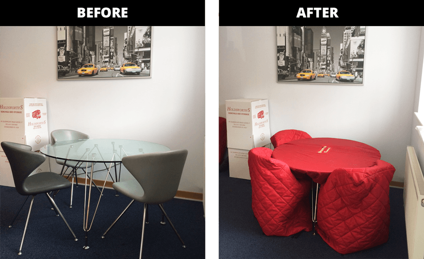 Table Covers - Before and after